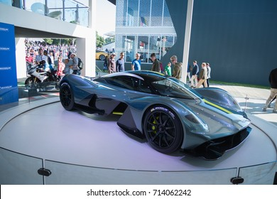 Aston Martin Valkyrie on display at the Goodwood Festival of Speed at Goodwood House, Chichester, West Sussex, England, PO18 0PX on Sunday July 2nd, 2017