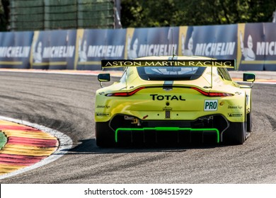 Aston Marting Racing in the Aston Martin Vantage GTE at the FIA WEC Spa, Belgium, Circuit de Spa Francorchamps on 5th May, 2018