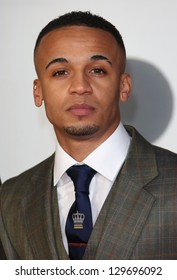 Aston Merrygold  from JLS arriving for the Brit Awards 2013 at the O2 Arena, Greenwich, London. 20/02/2013 Picture by: Henry Harris