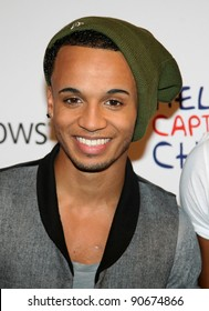 Aston Merrygold from JLS at The Jingle Bell Ball, The O2 Arena, east London. 04/12/2011  Picture by: Alexandra Glen / Featureflash
