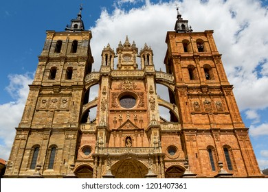 Astorga (Spain) - View of the gothic cathedral of Astorga, along the Saint James way
