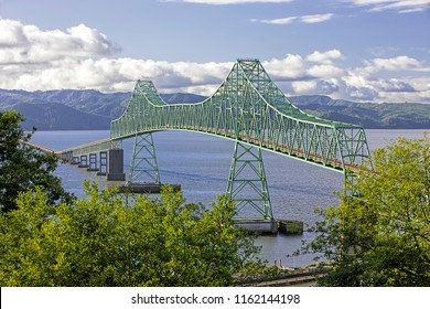Astoria megler bridge that spans across the Columbia River in Astoria, Oregon.