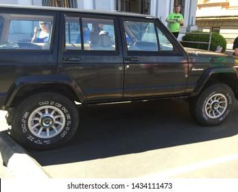 Astoria, Oregon 06-20-2019. Jeep Grand Cherokee from Goonies Movie.