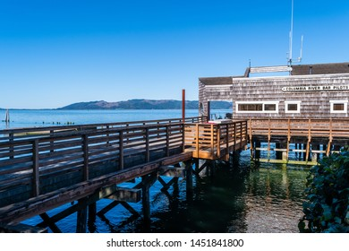 Astoria, Oregon - October 03 2017: The Columbia River Bar Pilots office building whose pilots cover the extensive, dangerous bar channel at the entrance to Columbia River in the Pacific NorthWest.