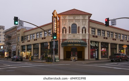 Astoria, OR USA - August 8th, 2017. Liberty Theater is a historic vaudeville theater and cinema in Astoria, Oregon.