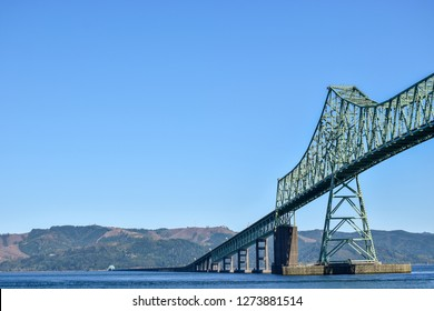 The Astoria-Megler Bridge between Washington State and Oregon in the United States