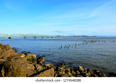 Astoria-Megler Bridge view from Washington State-USA
