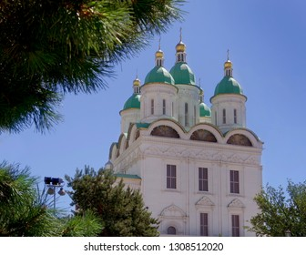 Astrakhan city. Russia. Church in the Astrakhan Kremlin.