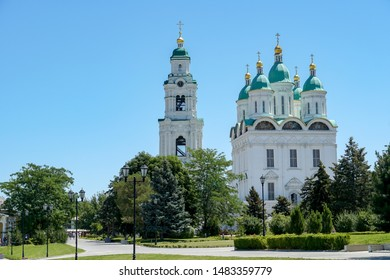 Astrakhan. Astrakhan Kremlin. Assumption Cathedral and Prechistenskaya bell tower in the historical complex. Russia