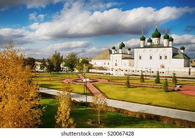 Astrakhan Kremlin, Russia. The Cathedral of the monastery of the Trinity