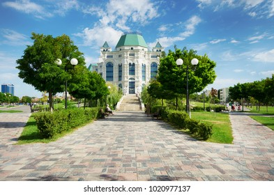 Astrakhan, Russia - August 12, 2017: Astrakhan State Opera and Ballet Theatre.