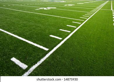 An astro turf football field