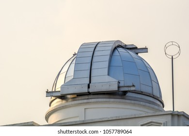 Astrodome of first observatory and planetarium in Thailand.