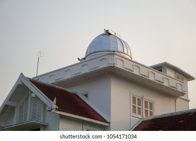 Astrodome and upper part of first observatory and planetarium in Thailand.