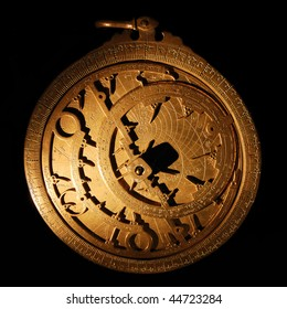 An Astrolabe is a circular planar imaging of the sky where the north pole of the world form the center.