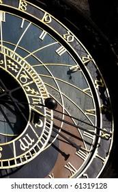 Astrological clock (Orloj) in Prague - Shutterstock ID 61319128