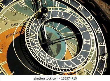 Astrological clock in Prague ,Czech Republic. - Shutterstock ID 153574910