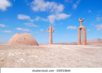 Astrological landmark in the north of Chile