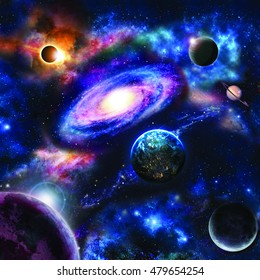 Astrology astronomy earth moon space big bang solar system planet creation. Elements of this image furnished by NASA