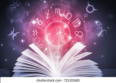 astrology horoscope magic book illustration