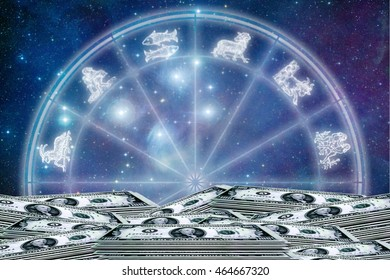 astrology and money concept, earning with astrology
