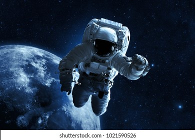 Astronaut - Elements of This Image Furnished by NASA