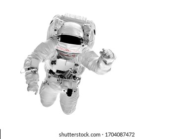astronaut flies over the in space masked with the image  Coronavirus and Air pollution pm2.5 concept. COVID-19.  Elements of this image furnished by NASA