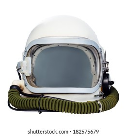 Astronaut helmet isolated on a white background.