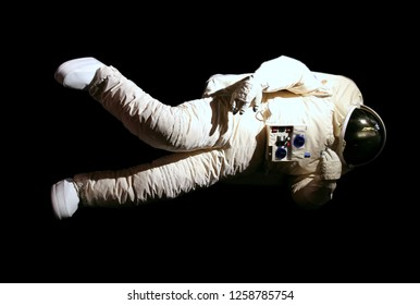 Astronaut isolated on black