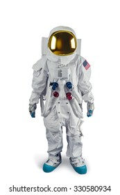 Astronaut isolated on white