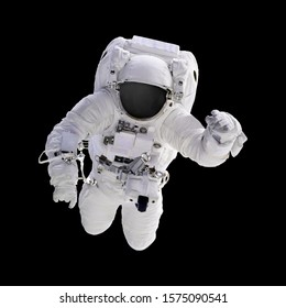 astronaut on black background, Elements of this Image Furnished by NASA