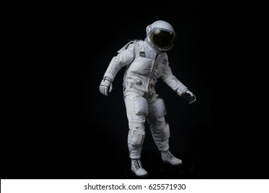 Astronaut on isolated background