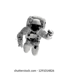 astronaut on the white backgrounds. Elements of this image furnished by NASA
