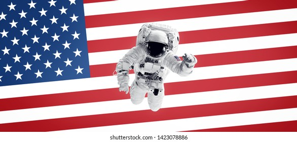 Lego New United States of America Nasa Astronaut Minifigure with Flag USA Fig
