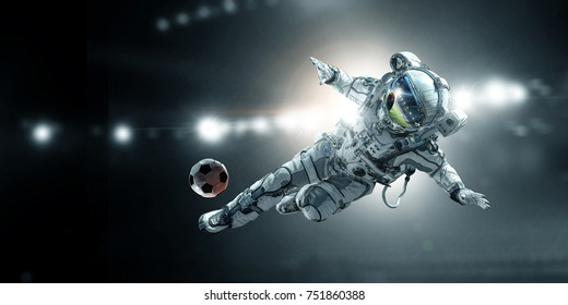 Astronaut player soccer game
