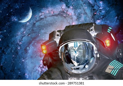 Astronaut spaceman alien extraterrestrial sci fi space planet. Elements of this image furnished by NASA.