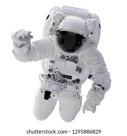 The Astronautt isolated on white background with Clipping Path - Elements of this Image Furnished by NASA.
