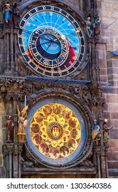 Astronomical clock Orloj in Prague, the capital of Czech Republic.