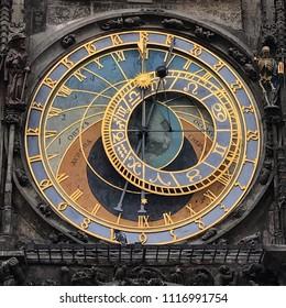 Astronomical clock at Prague, Czech Republic