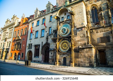 Astronomical clock in Prague, Czech Republic, Europe