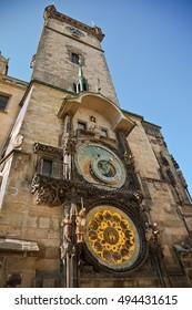 Astronomical Clock in Prague, the Czech Republic - Shutterstock ID 494431615