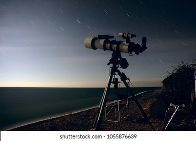 Astronomical observations with amateur telescope.