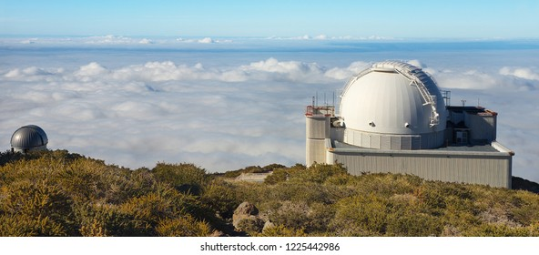Astronomical Observatory in Caldera de Taburiente, La Palma´s Island, Canary Islands, Spain