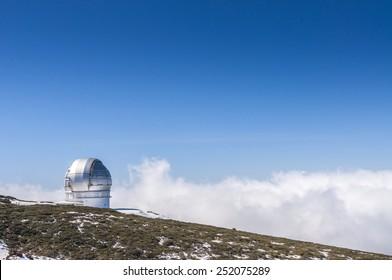 Astronomical observatory in La Palma island. Spain.