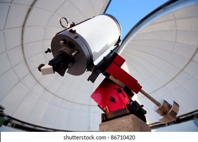 astronomical observatory telescope indoor blue sky [Photo Illustration]