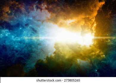Astronomical scientific background, nebula and bright stars in deep space. Elements of this image furnished by NASA nasa.gov