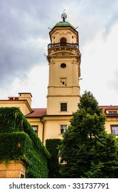 Astronomical Tower in Clementinum (Klementinum). Klementinum was established as an observatory, library and university by Empress Maria Theresa of Austria. Prague, Czech Republic.