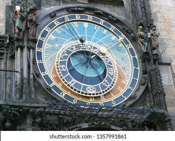 The astronomy clock in Prague Czech