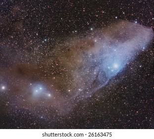 Astrophoto: wide field coloured nebula in Scorpius