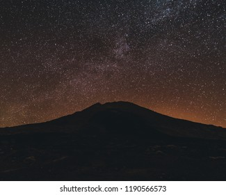 Astrophotography core of the milkyway at night. Spain, Tenerife